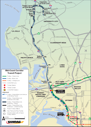 Map of trolley route construction to be completed